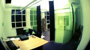 Curtains up, sofa built
